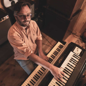 Greg Foat at his keyboards